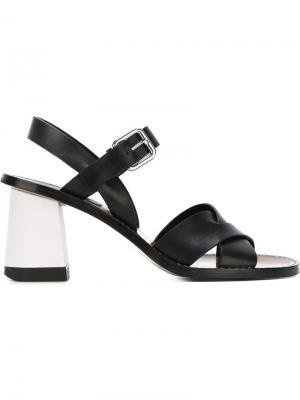 Босоножки на массивном каблуке Jil Sander. Цвет: чёрный