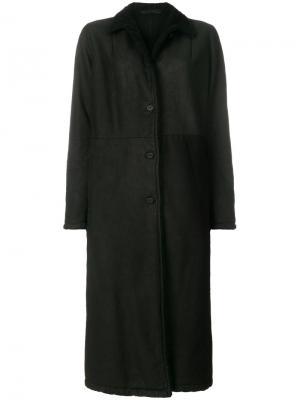 Длинное приталенное пальто Salvatore Santoro. Цвет: чёрный