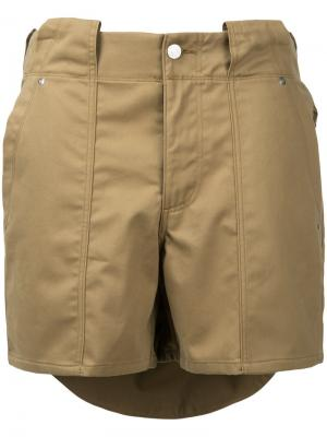 Многослойные шорты Soe. Цвет: коричневый
