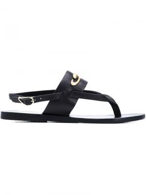 Сандалии Zoe Snakes Ancient Greek Sandals. Цвет: чёрный