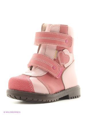 Полусапожки Детский скороход. Цвет: розовый