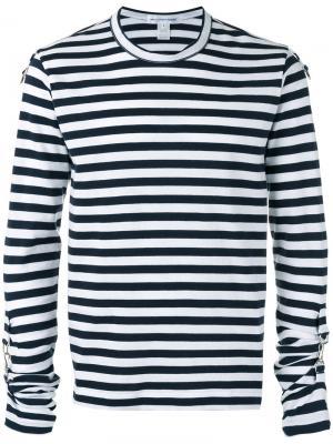 Strappy cuffs longsleeved T-shirt Comme Des Garçons Shirt. Цвет: синий
