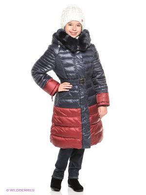 Пальто MES AMI. Цвет: темно-синий, бордовый