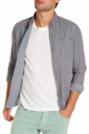 Рубашка CROSSHATCH. Цвет: серый