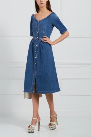 Джинсовое платье Alexander Terekhov. Цвет: синий