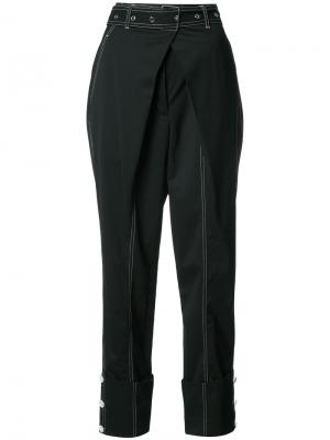 Belted Straight Pant with Cuff Proenza Schouler. Цвет: чёрный