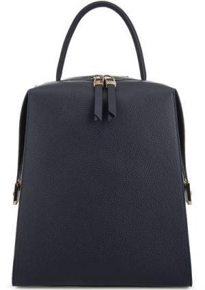 Синий рюкзак из мягкой кожи Gironacci. Цвет: синий
