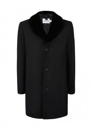 Пальто утепленное Topman. Цвет: черный