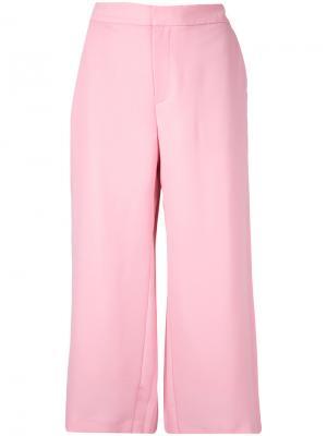 Плиссированные брюки Georgette Le Ciel Bleu. Цвет: розовый и фиолетовый