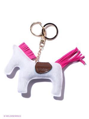 Брелок Лошадка (белая с розовым) Kawaii Factory. Цвет: белый