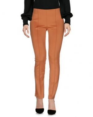 Повседневные брюки PAOLA FRANI. Цвет: охра
