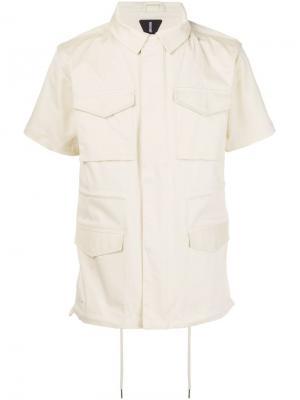 Рубашка с накладными карманами Publish. Цвет: телесный