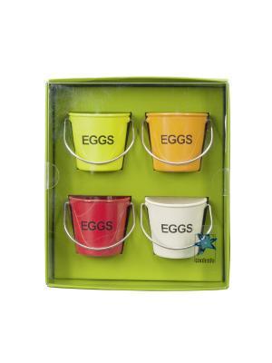 Подставки для яиц Peggy. Contento. Цвет: зеленый, белый