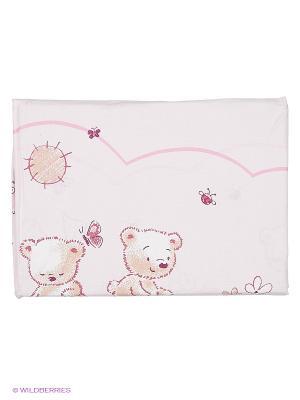 Комплект ПБ в кроватку, Солнечные мишки, Soni kids. Цвет: бледно-розовый