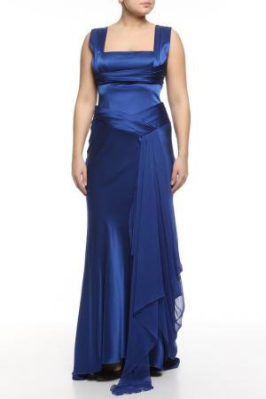 Платье вечернее Dina Bar-El. Цвет: синий