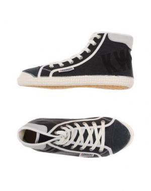 Высокие кеды и кроссовки KAWASAKI. Цвет: стальной серый
