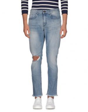 Джинсовые брюки DERRIÉRE. Цвет: синий