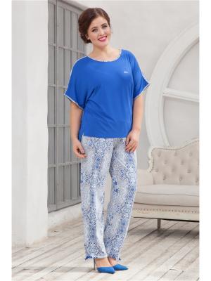 Комплект одежды CLEO. Цвет: индиго, бежевый