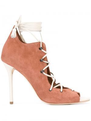 Туфли на шнуровке Savannah Malone Souliers. Цвет: коричневый