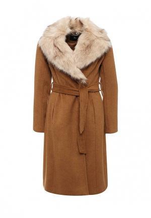 Пальто Dorothy Perkins. Цвет: коричневый