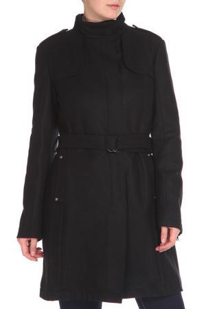 Пальто средней длины с поясом CNC Costume National C'N'C. Цвет: черный