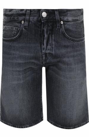 Джинсовые шорты с карманами 2 Men Jeans. Цвет: черный
