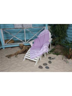 Полотенце пляжное СПА 90х160 фиолетовый TOALLA. Цвет: фиолетовый