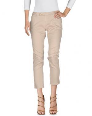 Джинсовые брюки BLUEFEEL by FRACOMINA. Цвет: бежевый