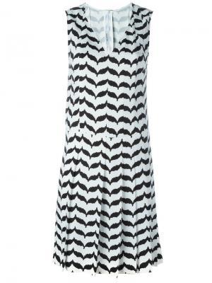 Платье с V-образным вырезом Neil Barrett. Цвет: чёрный