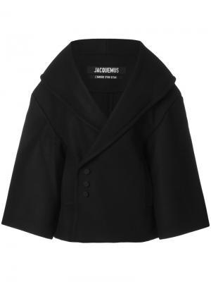 Объемная куртка Jacquemus. Цвет: чёрный