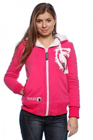 Толстовка утепленная женская  Squaw Valley Magenta/White Roos. Цвет: розовый,белый
