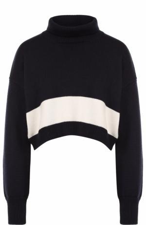 Укороченный шерстяной свитер Erika Cavallini. Цвет: синий