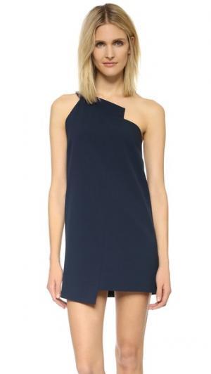 Свободное платье с открытым плечом Michelle Mason. Цвет: темно-синий