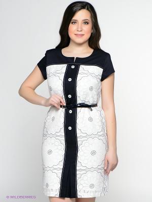 Платье Amelia Lux. Цвет: белый, синий