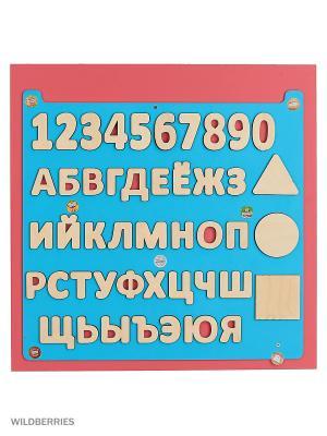 Бизиборд Азбука Ж BIZIKIDS. Цвет: розовый
