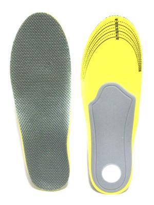 Ортопедические стельки с супинатором Eleon. Цвет: серый, желтый