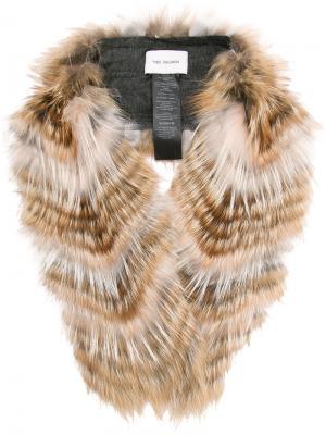 Fur stole Yves Salomon Accessories. Цвет: многоцветный