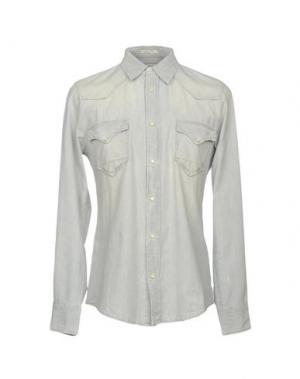Джинсовая рубашка CYCLE. Цвет: светло-серый