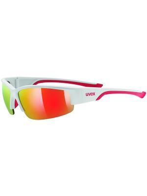 Солнцезащитные очки Uvex. Цвет: белый, красный