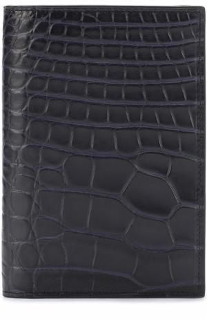 Обложка из кожи аллигатора Brioni. Цвет: темно-синий