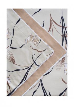 Комплект постельного белья 1.5-спальный Bellehome. Цвет: бежевый