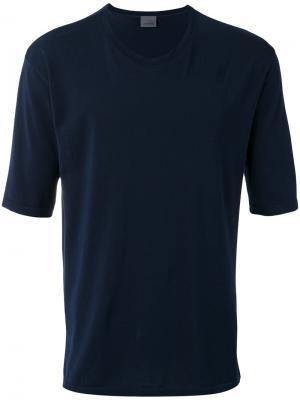 Однотонная футболка Laneus. Цвет: синий