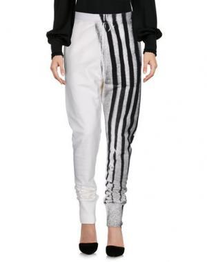 Повседневные брюки ANN DEMEULEMEESTER. Цвет: белый