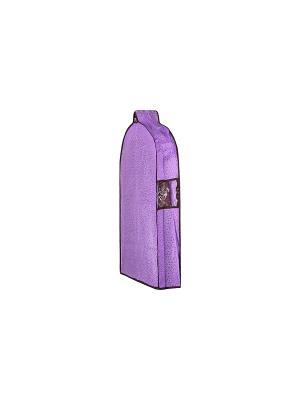 Чехол для верхней одежды подвесной Звезды фиолетовый EL CASA. Цвет: фиолетовый