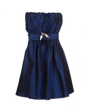Короткое платье FIORUCCI. Цвет: темно-синий