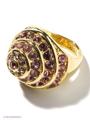 Кольцо Jenavi. Цвет: золотистый, сиреневый