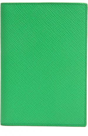 Футляр для паспорта Smythson. Цвет: зеленый