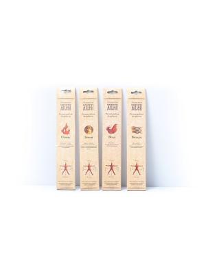 Набор аромапалочек Элементы жизни, 8 штук: 4 аромата по 2 шт Индокитай. Цвет: светло-коричневый