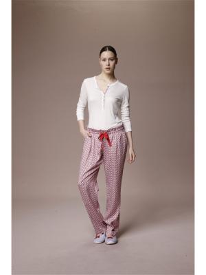 Пижама с брюками RELAX MODE. Цвет: кремовый