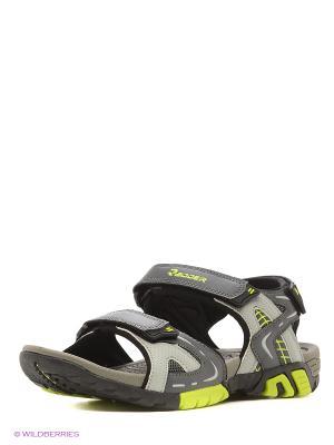 Мужские сандалии Radder. Цвет: салатовый, серый